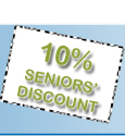 Seniors Discount - ten percent